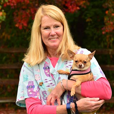 Sue at Salmon Brook Veterinary Hospital